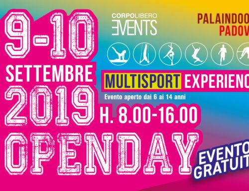 OpenDay Multisport Experience il 9-10 settembre 2019