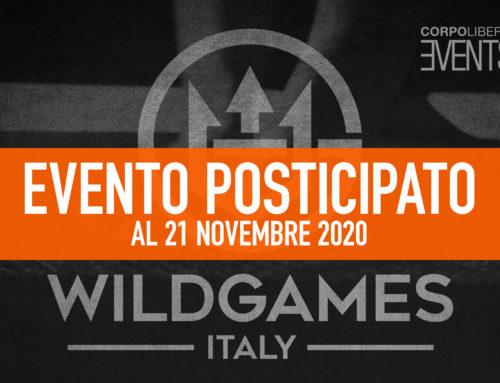 Wild Games Italy – 21 novembre 2020